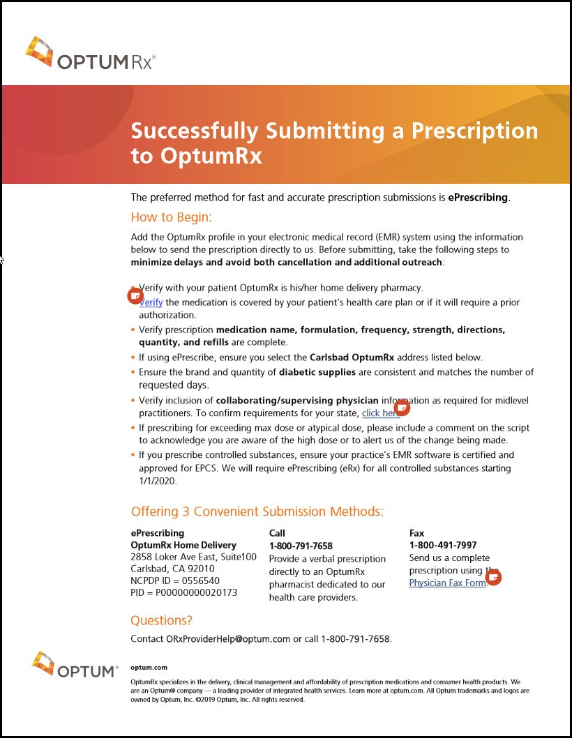 submitting an electronic prior authorization to optumrx